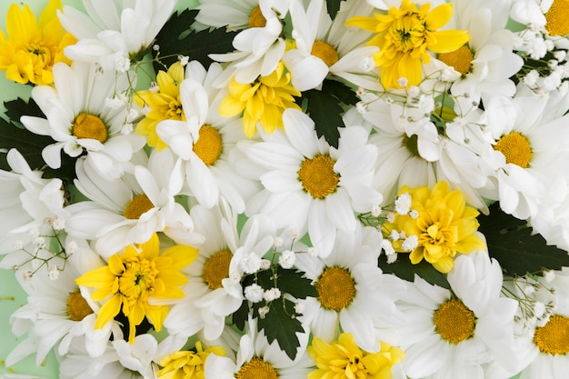 Вид сверху красивой цветочной концепции Бесплатные Фотографии