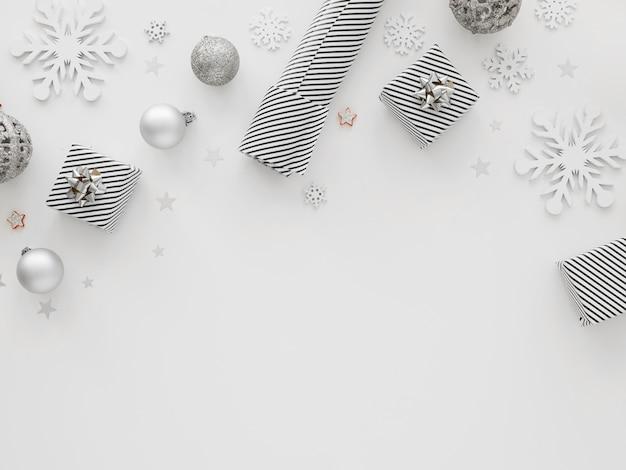 Вид сверху красивой рождественской концепции Premium Фотографии