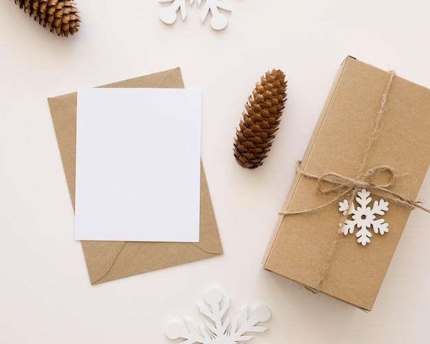 美しいクリスマスの概念の上面図 無料写真