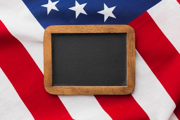 Вид сверху доске на верхней части американского флага Бесплатные Фотографии