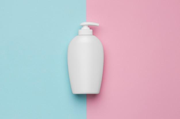 ハイドロアルコールジェルのボトルの上面図 無料写真