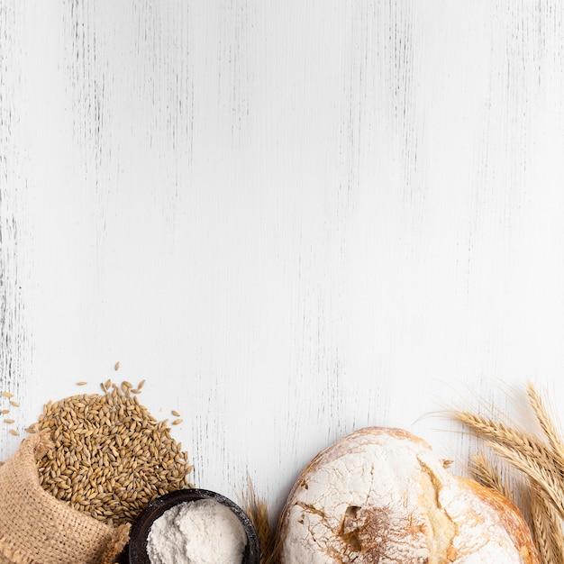 Вид сверху концепции хлеба с копией пространства Бесплатные Фотографии