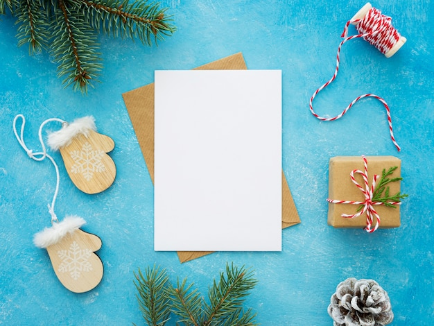 Вид сверху рождественской концепции с копией пространства Бесплатные Фотографии
