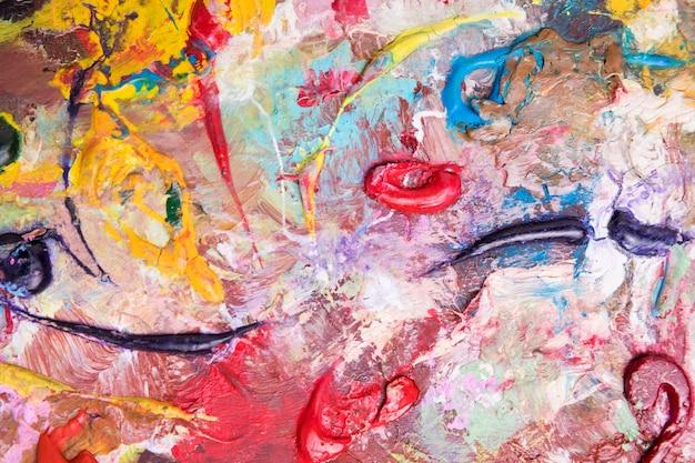 Вид сверху красочных разливов краски на поверхности Бесплатные Фотографии