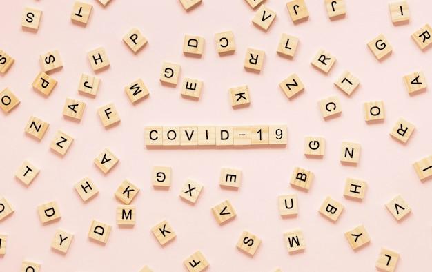 Covid-19コンセプトのトップビュー 無料写真
