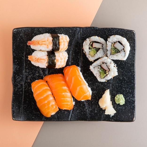 Вид сверху вкусной концепции суши Бесплатные Фотографии