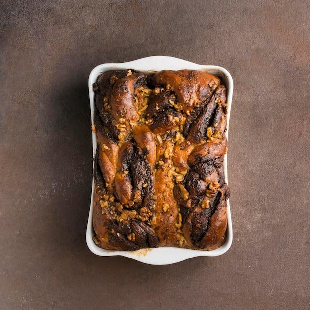 Вид сверху концепции вкусного сладкого хлеба Бесплатные Фотографии