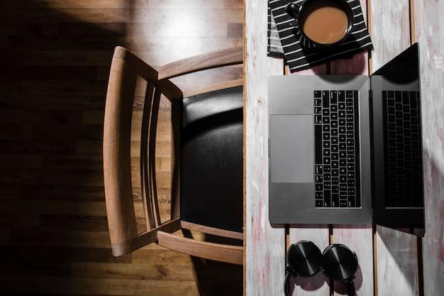 Вид сверху концепции стола с копией пространства Бесплатные Фотографии