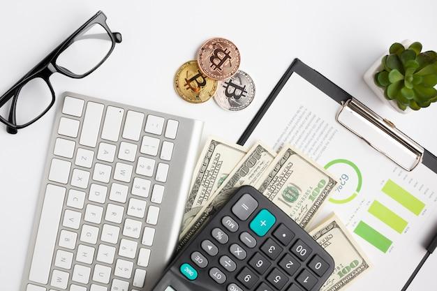 Вид сверху финансовых инструментов Бесплатные Фотографии