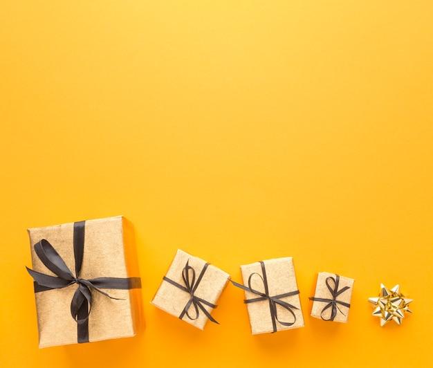 Вид сверху подарков с копией пространства Бесплатные Фотографии