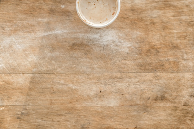Wooden Table Top View ~ Top view of hot drink on wooden table photo free download