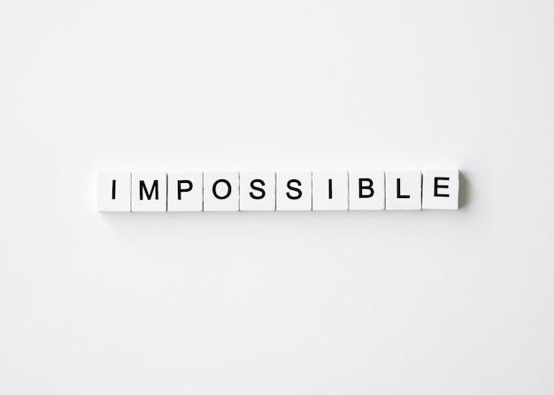사이버 월요일 불가능한 편지 큐브의 상위 뷰 무료 사진