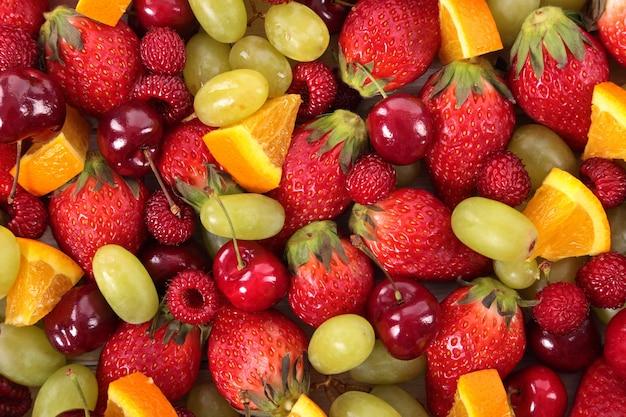 혼합 과일의 상위 뷰 무료 사진