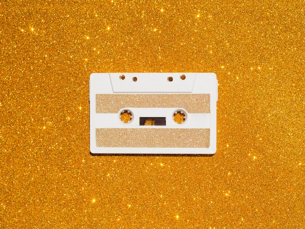 Вид сверху музыкальной концепции с кассетой Бесплатные Фотографии