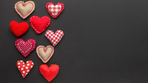 Вид сверху концепции дня святого валентина с копией пространства Бесплатные Фотографии