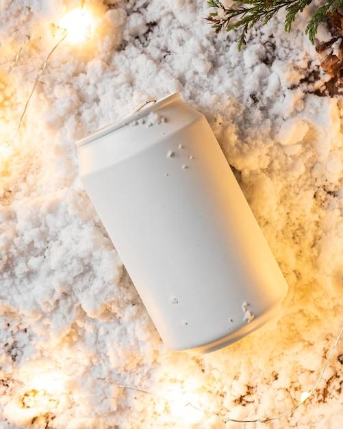 Вид сверху концепции зимнего снега Бесплатные Фотографии