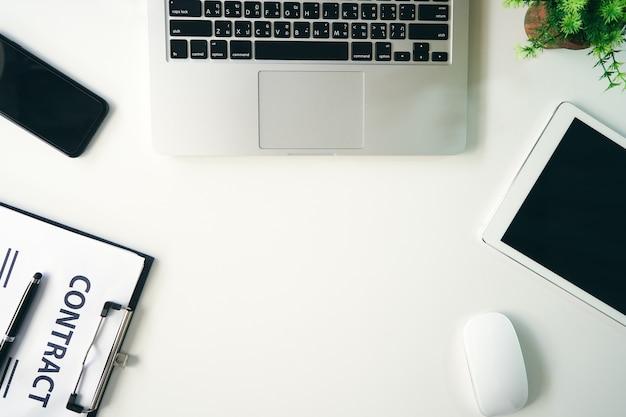 Top view office table desk Photo   Premium Download
