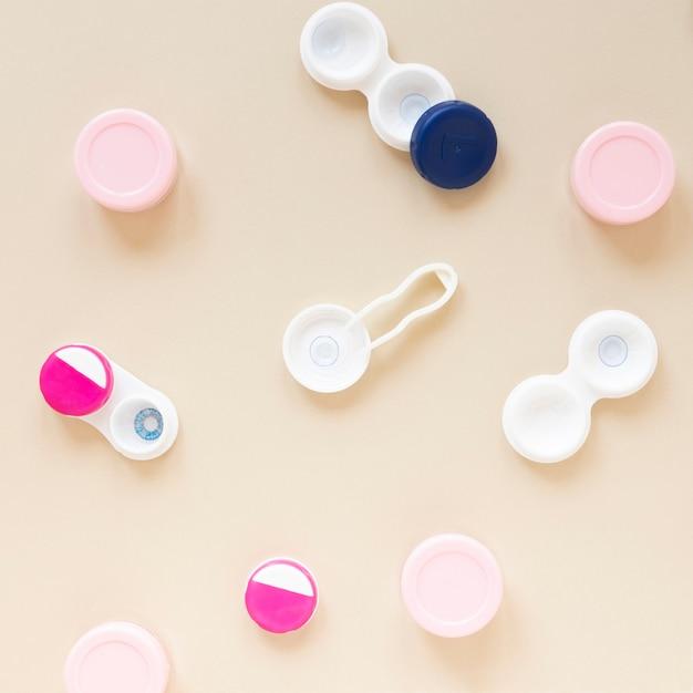 Top view optics accessories Free Photo