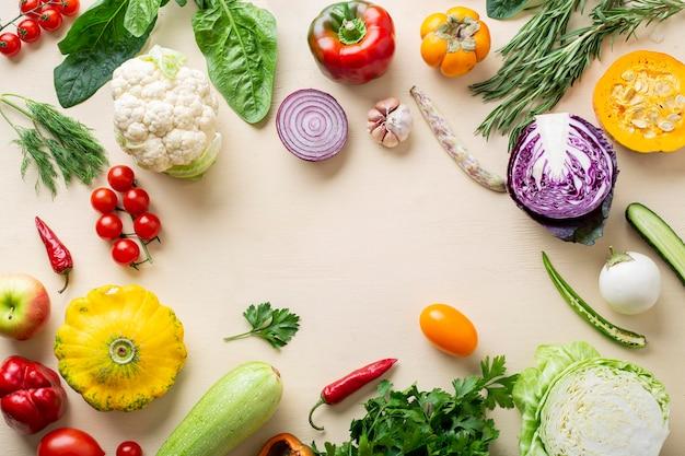 上面有機野菜フレーム Premium写真