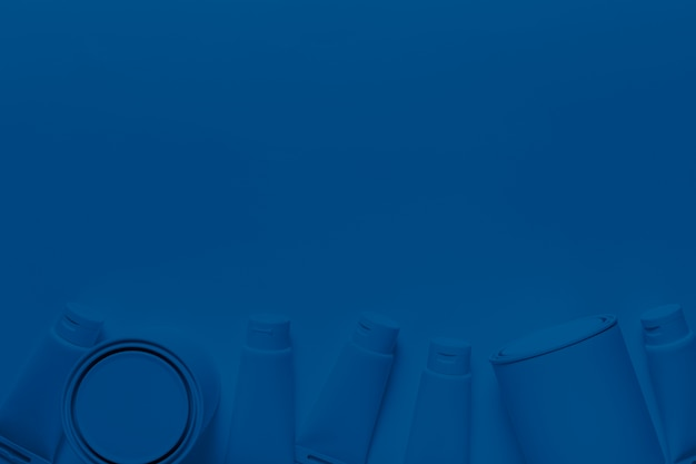 古典的な青のトップビューペイント缶と容器 無料写真