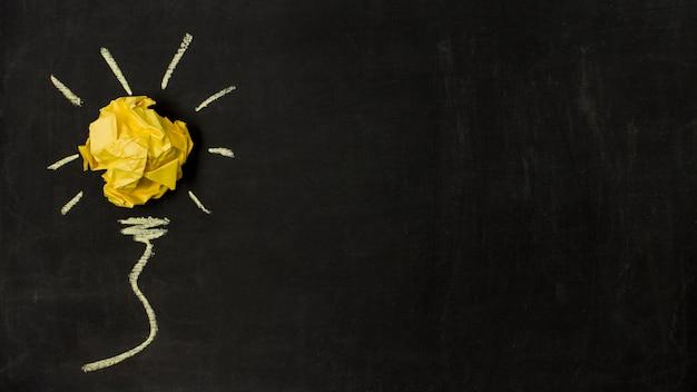 トップビューpapelボールのアイデアコンセプト 無料写真
