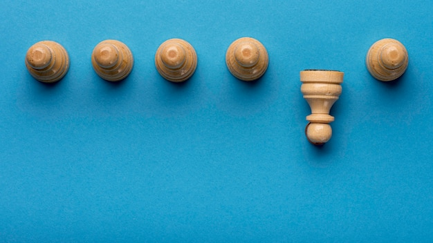 Top view of pawns with copy space Free Photo
