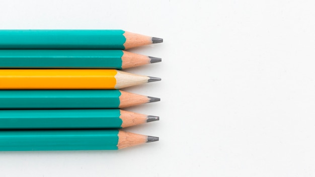 Top view pencil collection Free Photo