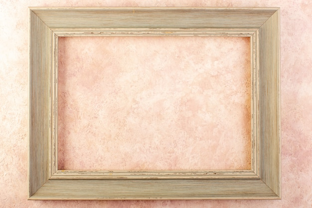 A top view photo frame empty designed isolated Free Photo