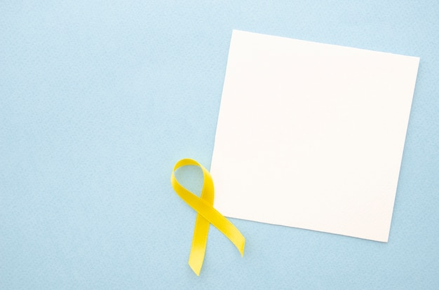 Top view piece of paper on blue background Free Photo