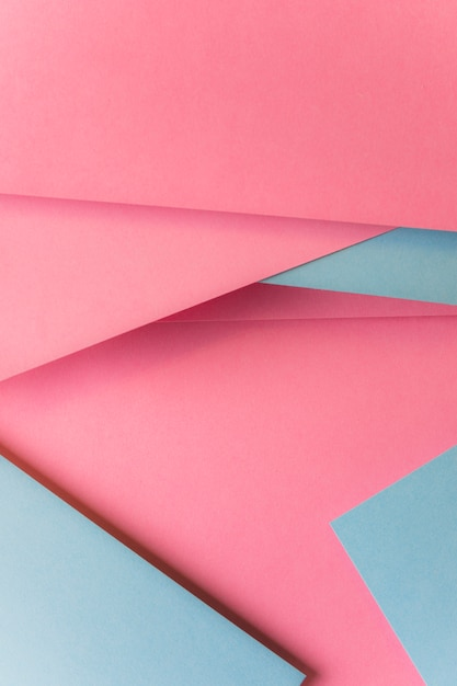 Top view of pink and gray card paper abstract background Free Photo