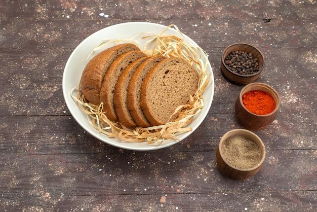 上面ビュープレート、パン、調味料、茶色、食品の食事生地 無料写真