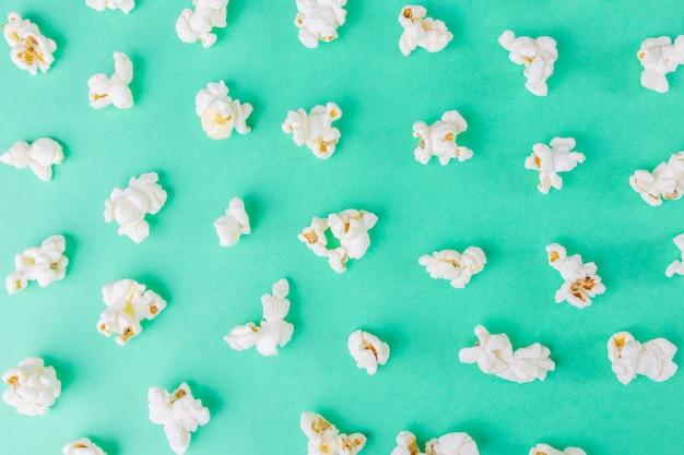 Top view of popcorn Premium Photo