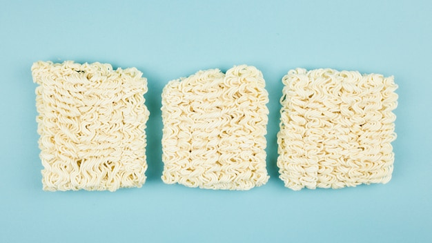 Top view of raw noodles Free Photo