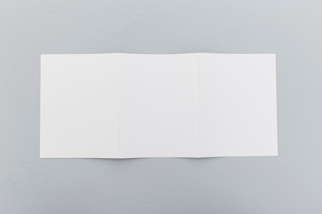 Top view rectangle brochure on desk Free Photo