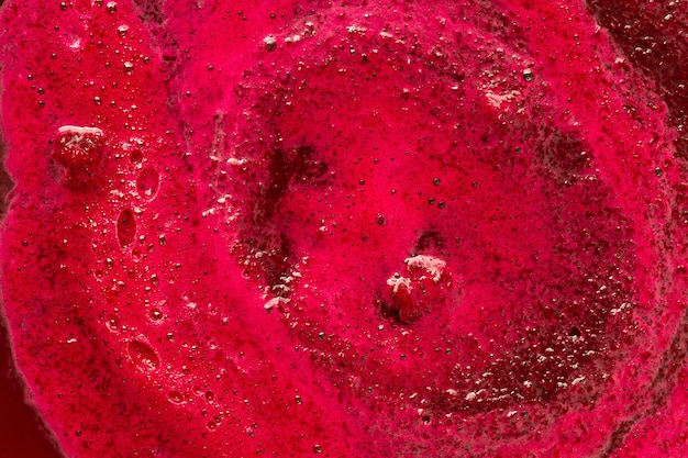 Top view red creamy surface Free Photo