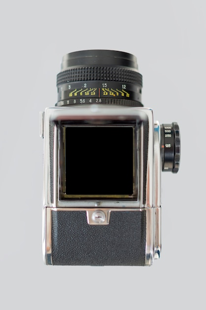 Top view of retro camera Free Photo