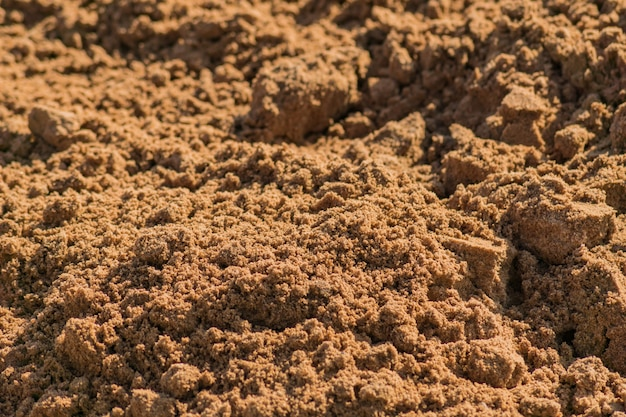 Top view of sand surface for background Premium Photo