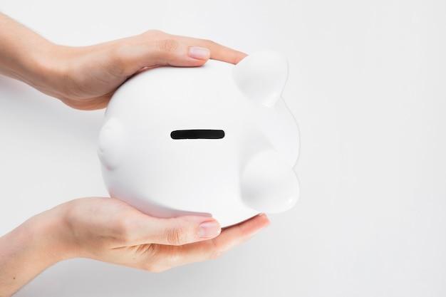貯金箱の平面図の節約 無料写真