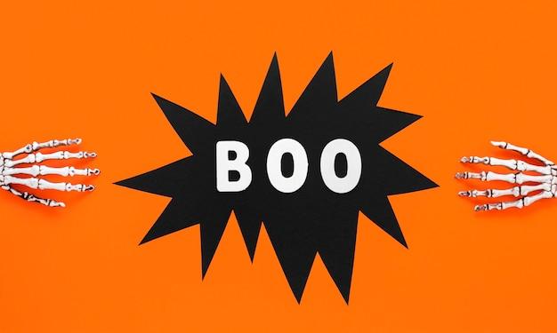 Вид сверху страшно скелет руки на хэллоуин Бесплатные Фотографии