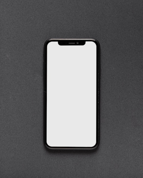 Top view of smartphone on black background Free Photo
