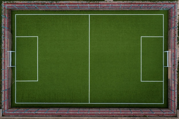 Top view soccer field Free Photo