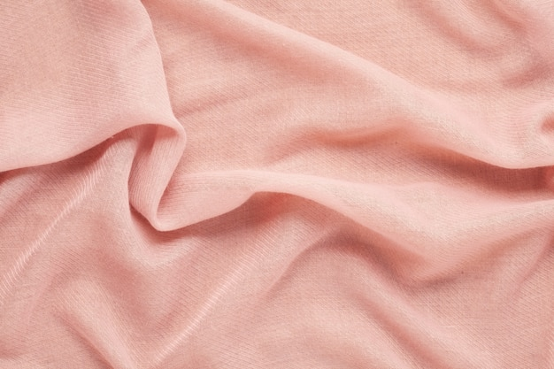 Top view over soft woolen pink textil texture Premium Photo