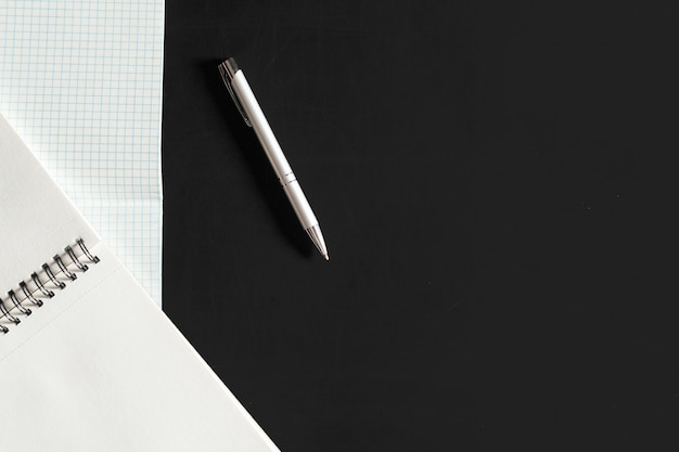 Top view spiral notebook Premium Photo