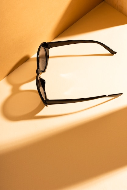 Top view sunglasses with shadow Free Photo