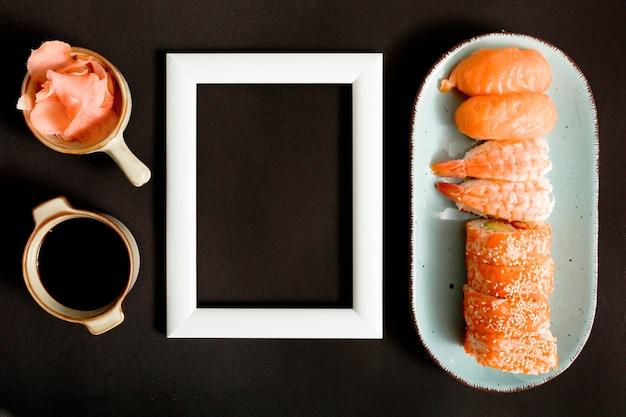 Вид сверху суши с копией пространства Бесплатные Фотографии