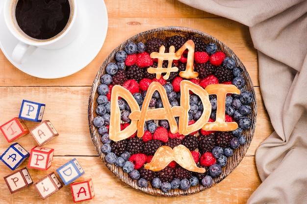 Вид сверху вкусного десерта отца Бесплатные Фотографии