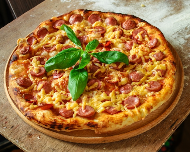 Top view of tasty pizza Premium Photo
