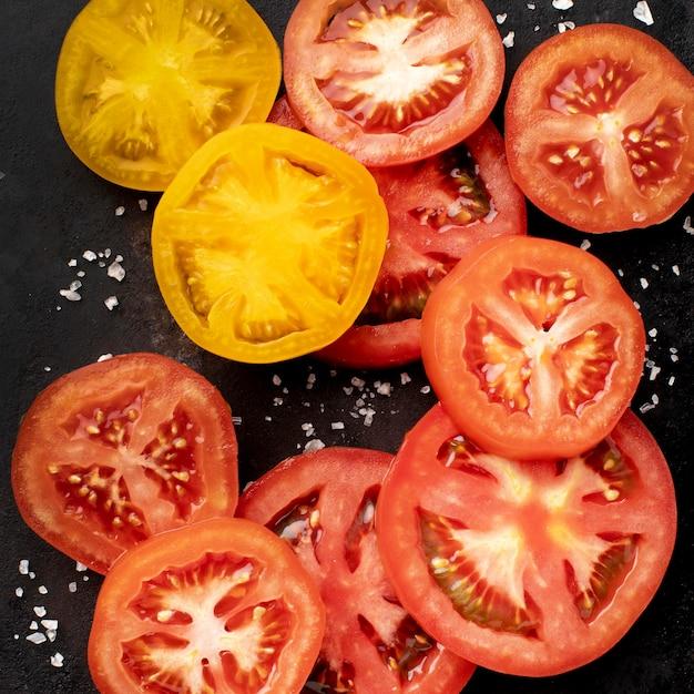 Композиция из ломтиков помидора Бесплатные Фотографии