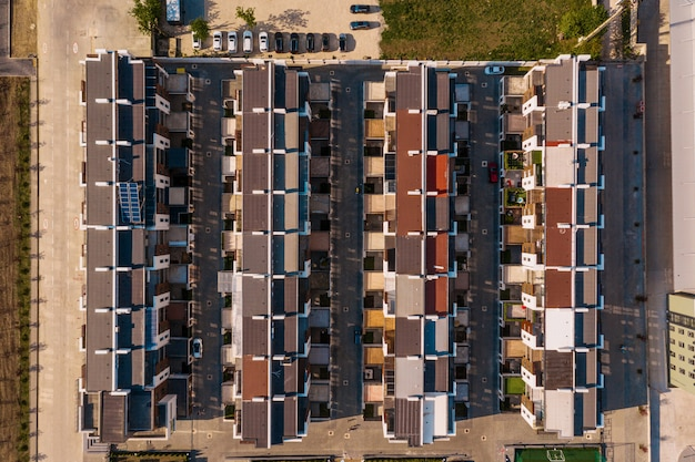 Top view town houses texture Free Photo