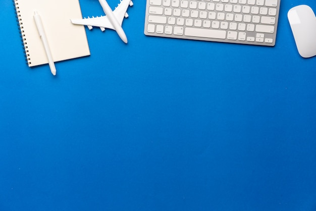 Top view of travel concept still life photography background Premium Photo